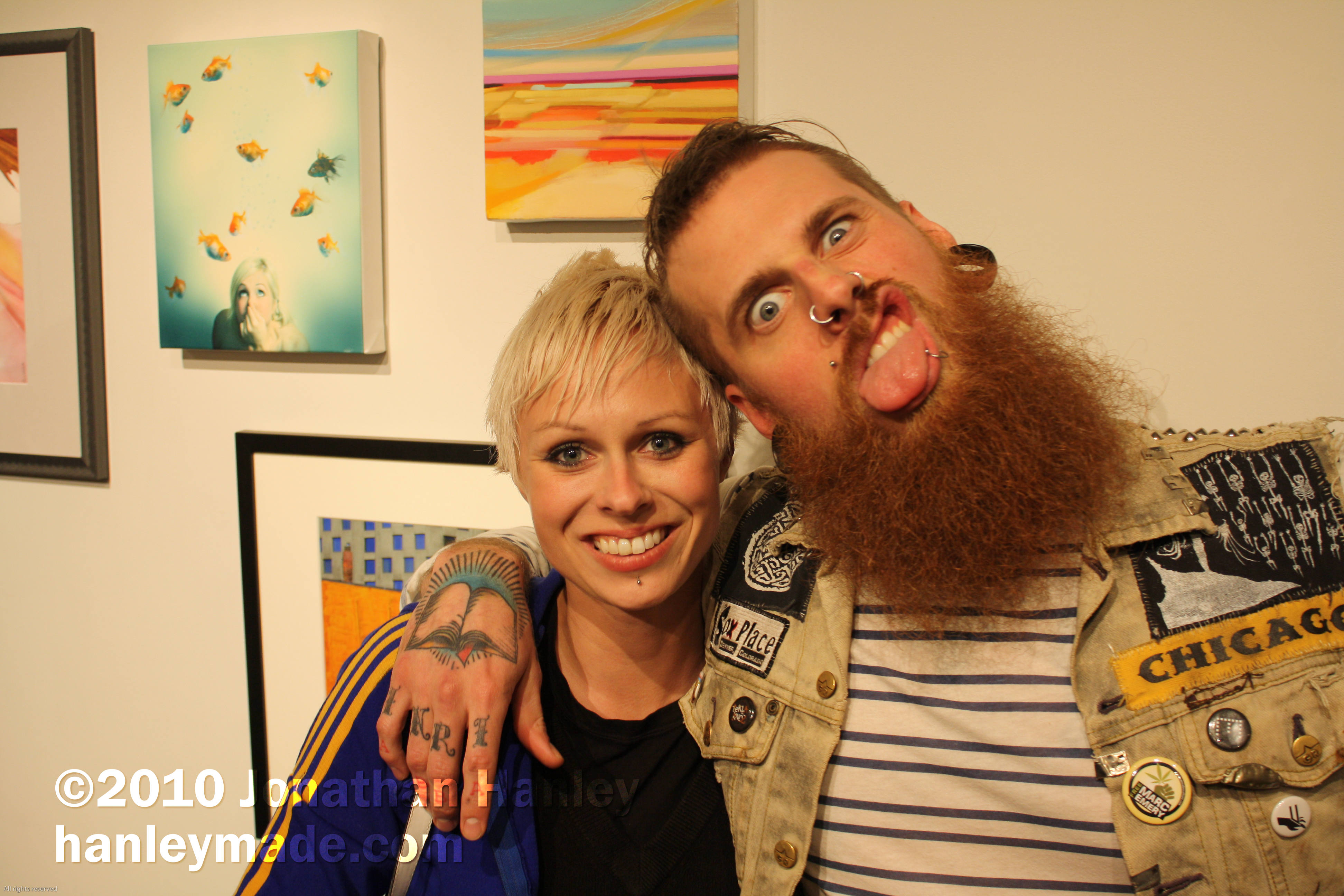 Morgan Black and Rachel Ellenord were at the Gallery opening to support Zoe Pawlak.