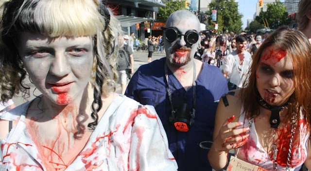 Kaihle, Quinn, and Autumn at Zombie walk vancouver august 2010