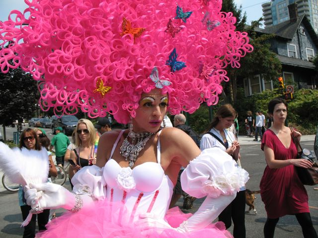 Drag queen photo at Pride parade august 2010 by Autumn Lamondin